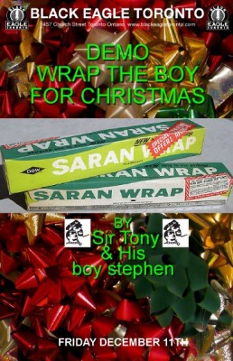 Wrap the boy!