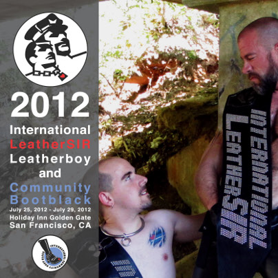 poster for International LeatherSIR / Leatherboy / Community Bootblack 2012
