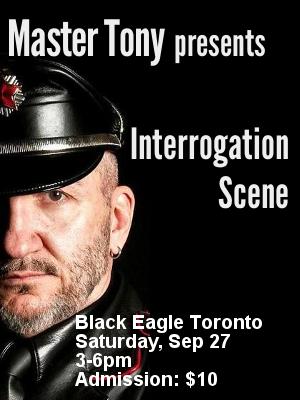 Master Tony presents Interrogation Scene