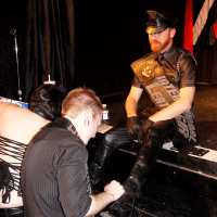 Central Canada LeatherSIR / Leatherboy / Community Bootblack 2014 Contest (photo: JJ Deogracious for leatherati.com)