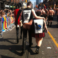 James and Suzy in World Pride Parade